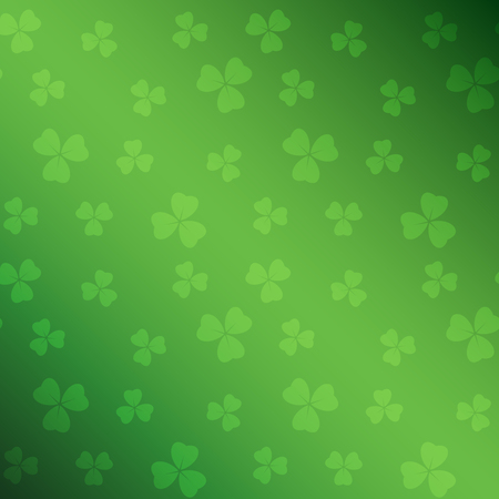 green saint patrick vector background with gradient