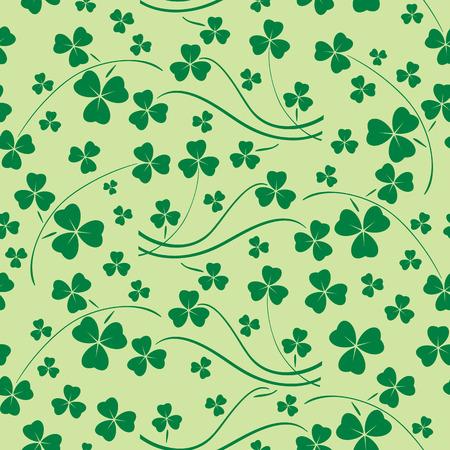light green seamless pattern - saint patrick vector background