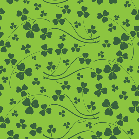 bright green seamless pattern for saint patrick holiday - vector background