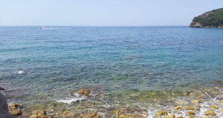 Adriatic sea till horizon near Budva - Montenegro resort