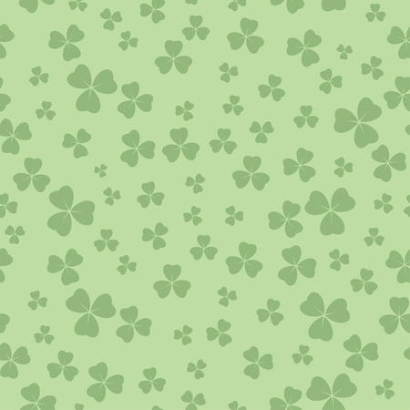 light green seamless pattern for patricks day - vector background with shamrock