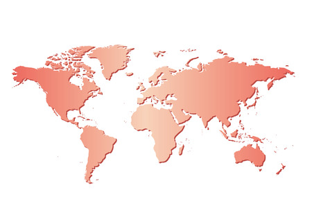 white background with red map of the world and gradient - vector 向量圖像