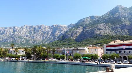 light gray mountains near Makarska town in Dalmatia