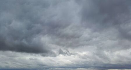 terrible clouds in autumn day - gloomy weather