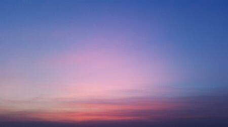 blue and rosy evening sunset