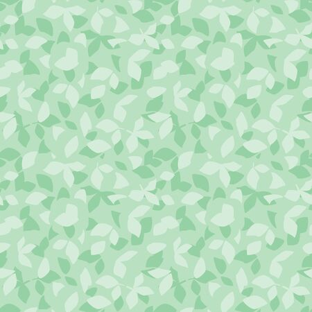 vector floral background - decorative light green seamless pattern with leaves