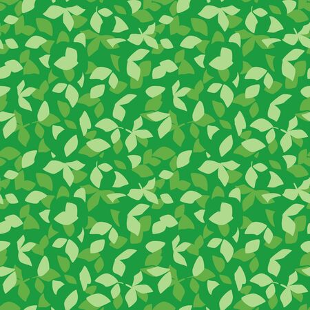 floral background - vector bright green seamless pattern with leaves