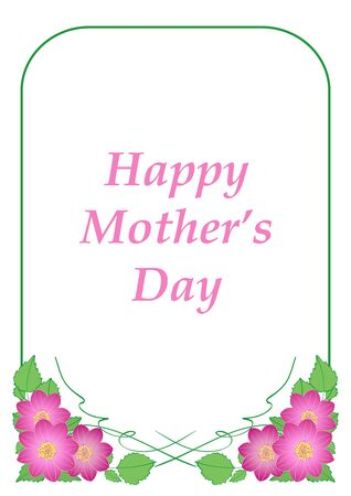 happy mother's day - vector greeting card with flowers