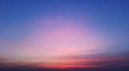 blue evening sky with red color from sunset Banque d'images - 147105205