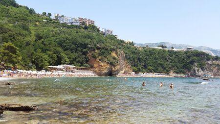 Mogren beach near Budva Montenegro - resort on Adriatic sea