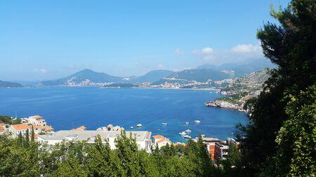 blue Adriatic sea near Budva and Becici - resort of Montenegro