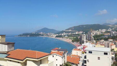 beach near Becici Montenegro - resort on Adriatic sea