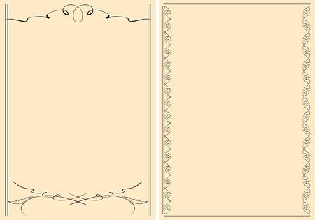 black decorative frames on beige background Banque d'images - 147872652