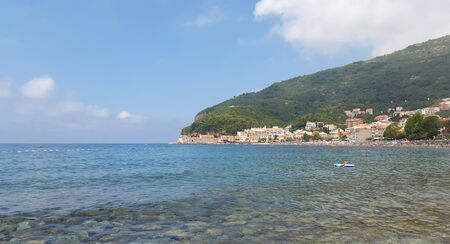 Adriatic sea and beach near Petrovac - Montenegro at summer