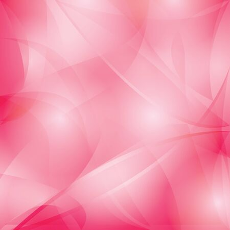 bright red background with curved abstractions and gradient - vector