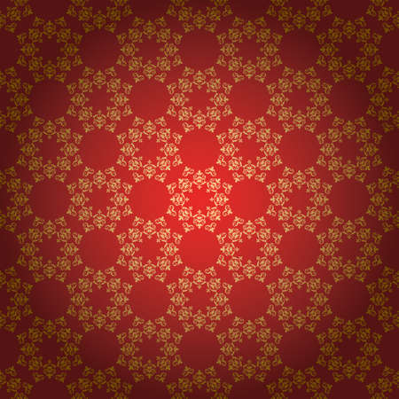 bright red vector background with vintage ornament Vettoriali