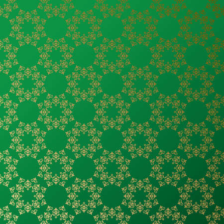 green vector background with golden ornament