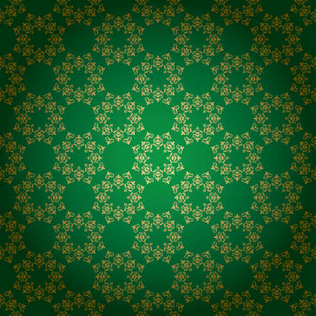 bright green vector background with vintage ornament