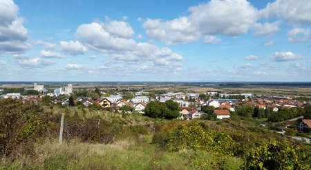 view to Slatina - town in Slavonia region of Croatia. Virovitica-Podravina County