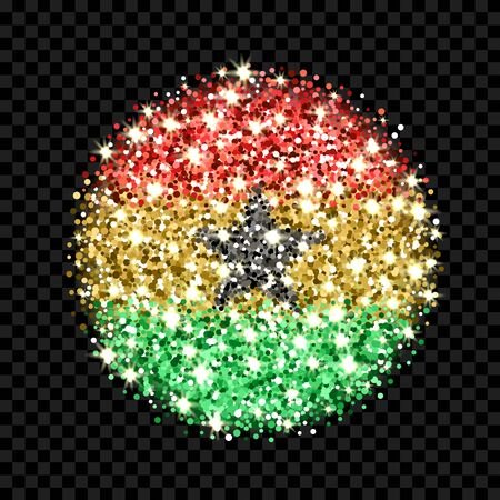 Republic of Ghana flag sparkling badge.