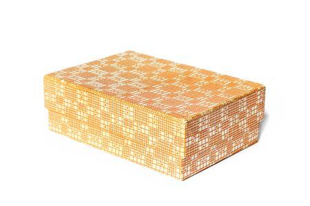 Box on a white background. Orange box Standard-Bild
