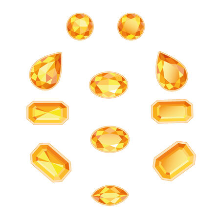 topaz: Amber and topaz different cut  Bright sunny gems on a white background  More - in my portfolio