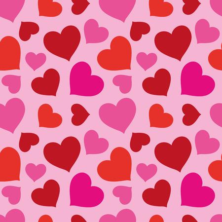 seamless texture: Smart-festliche Muster aus roten und rosa Herzen auf einem rosa Hintergrund Nahtlose Textur Gewebe, Textil-, Tischdecke