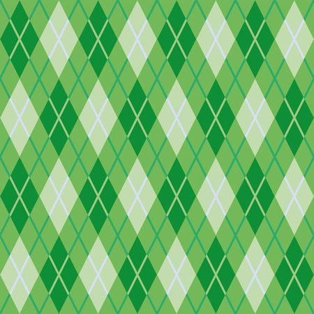 Pattern for warm woolen fabric of green rhombs  Seamless texture Vector