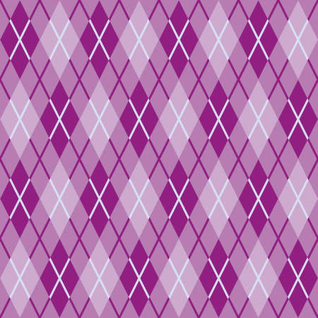 Pattern for warm woolen fabric of lilac and pink rhombs  Seamless texture Vector