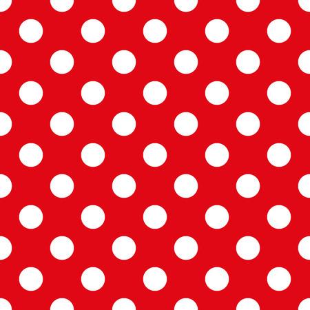 Piselli bianchi su uno sfondo di tessuto rosso, materiale, tessile, seta, vestiti del bambino Seamless texture