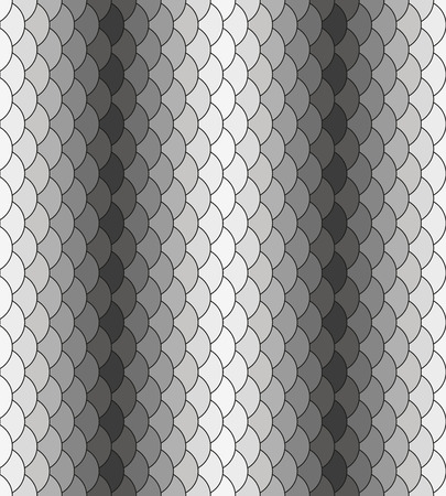 Scales monochrome black-white repeating pattern Vector