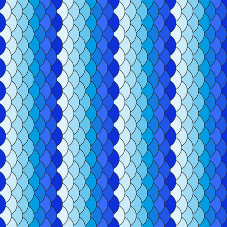 Scales white and blue repeating pattern Vector