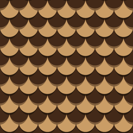 Pine cone scales bright two-tone binary repeating pattern Vector