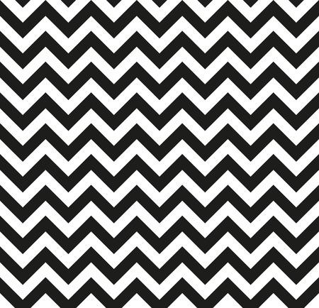 Chevron Zigzag black-white monochrome pattern. Seamless texture