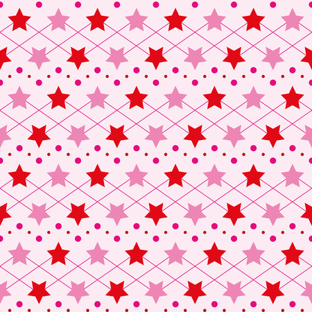 lightweight ornaments: Bright Star elegant repeating pattern for baby clothes Illustration