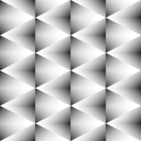 contrasty: Abstract geometric black-white monochrome pattern of rhombus. Seamless texture