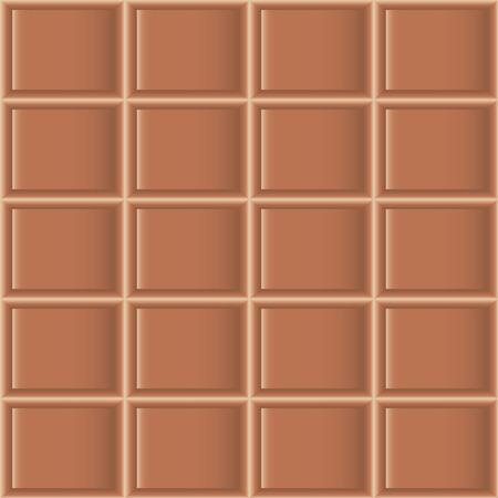 seamless texture: Fliesenmuster der Milchschokolade. Nahtlose Textur Illustration