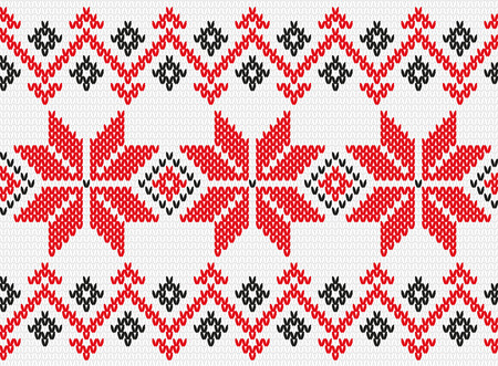 Ukrainian national pattern. Knitted, related, seamless texture
