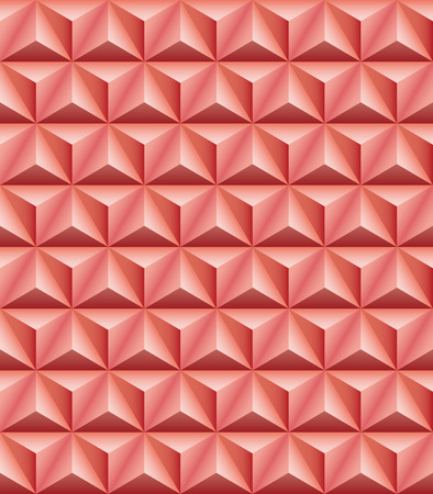 tripartite: Abstract pattern of red-brown clay trihedral pyramids. Seamless texture