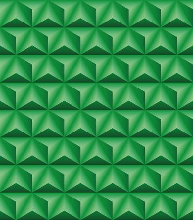 seamless texture: Abstrakte Muster der gr�nen dreifl�chige Pyramiden. Nahtlose Textur Illustration