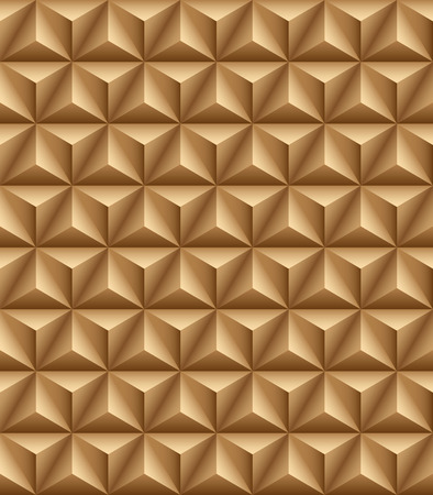 tripartite: Abstract pattern of blue trihedral pyramids. Seamless texture