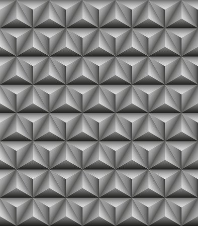 tripartite: Abstract pattern of gray stone tripartite pyramids. Seamless texture Illustration