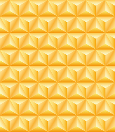 tripartite: Abstract pattern of gold precious tripartite pyramids. Seamless texture