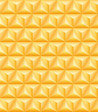 seamless texture: Abstrakte Muster von Gold Edeldreiseitige Pyramiden. Nahtlose Textur Illustration