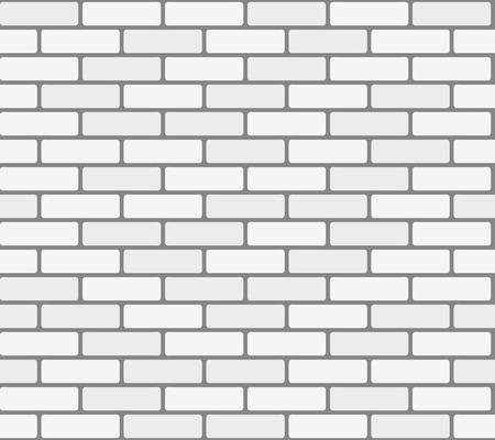 白レンガの壁。シームレス テクスチャ ベクトル