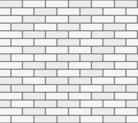 White brick wall. Vector, seamless texture