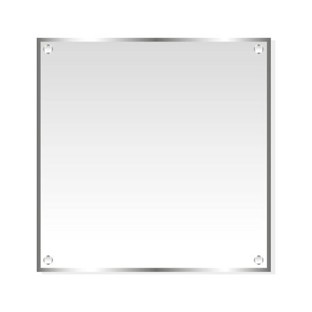 silver metal: Frame silver sticker. Vector, isolated object on white background Illustration