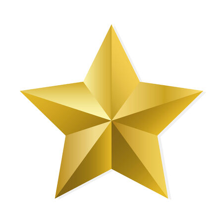 gold star: Gold star. Vector, isolated object on white background
