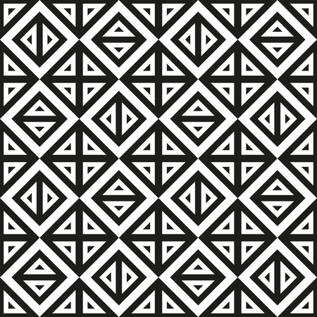 contrasty: Abstract geometric black and white monochrome pattern of triangles. Vector seamless texture