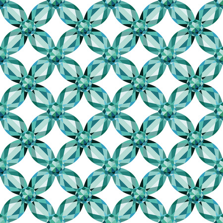 Flower braided Mesh with aquamarine on a white background. Seamless texture, vector Vector